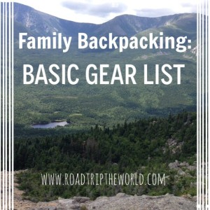 Family Backpacking 101- Basic Camping Gear